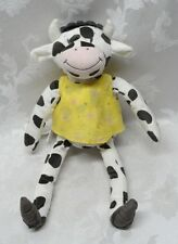 "IKEA Fabler Ko Farm 15"" Spotted Black Cow Soft Plush Stuffed Toy Animal Holstein"