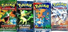 ① 4 BOOSTERS de CARTES POKEMON Neuf Aucun double en FRANCAIS (Lot N° AAQ)