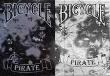 Bicycle Pirate Playing Cards 2 Deck Set black & white - Limited Edition -SEALED