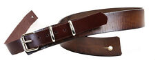 """Buckle Strap High Quality Leather Brown Guitar Strap Thick Leather 1 3/4"""" Wide"""