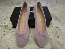 CHANEL NEW! LIGHT LAVENDER BALLERINA Flats Size 39.5 Med Made in ITALY  NEW WBOX