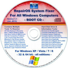 COMPUTER REPAIR & RECOVERY BOOT CD Disc For WINDOWS 8.1 / 8, 7, Vista & XP - ALL