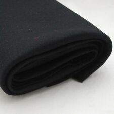 100% Wool Felt Fabric - 1mm Thick - Made in Europe - Black - 1/2m x 1.6m