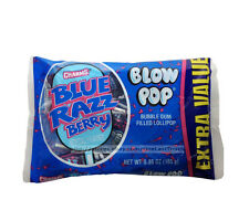 CHARMS^5.2oz+ Bag BLUE RAZZ BERRY Bubble Gum Filled LOLLIPOP Hard Candy BLOW POP
