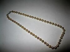"""Vtg 14K Solid White Gold Clasp 7-mm Cultured Pearl Necklace 17.5"""" Not Scrap Lot"""