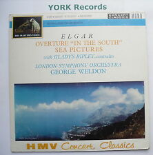 XLP 30008 - ELGAR - Sea Pictures / In The South WELDON London SO - Ex LP Record