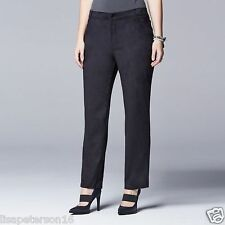 Simply Vera Vera Wang Faux-Suede Straight Pant Women's Petite Sz. 4P NWT MSRP$58