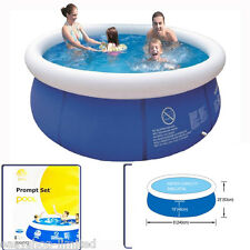 8FT Prompt Round Swimming Kid Family Pool Inflatable Paddling Outdoor Garden Set
