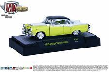 1:64 M2 Machines *AUTO-THENTICS R35* Yellow & White 1955 Dodge Royal Lancer NIB!
