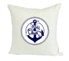 Personalized Nautical Navy Anchor Sailor Name Baby  Wedding Gift Pillow Cover