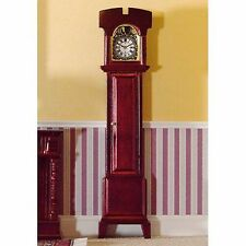 DOLLS HOUSE 1/12 SCALE GRANDFATHER/LONGCASE CLOCK IN MAHOGANY