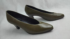Clarks Images womens khaki green smart shoes heels, size 5.5 uk, man made upper