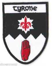 County Tyrone Ireland World Embroidered Crest Patch Badge