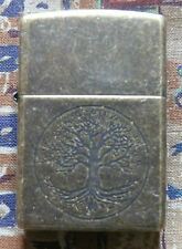 PLAIN TREE OF LIFE ZIPPO LIGHTER FREE P&P FREE FLINTS