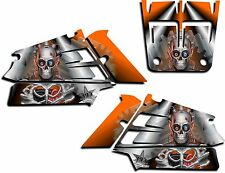 YAMAHA BANSHEE GRAPHICS WRAP DECAL STICKER KIT TURBO CHARGED SHROUDS ORANGE