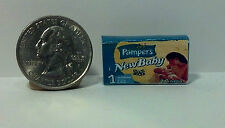 Dollhouse Miniature Baby Diapers Box  1:12 scale    pnb one inch scale  H121