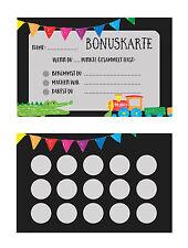 Bonuskarte Kinder 5 Stück, Belohnungskarte, Stempelkarte Kind