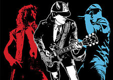 ACDC Classic Band Rock A3 260GSM POSTER PRINT