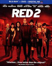 RED 2 (Blu-ray/DVD, 2013, 2-Disc Set)  w/Slipcover  Bruce Willis  Brand NEW