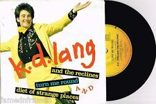 """K.D. LANG AND THE RECLINERS - TURN ME ROUND - RARE 7"""" PROMO RECORD w PICT SLV"""