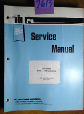 IH International Harvester 615 715 Combine Chassis Service Manual GSS-1430 R2