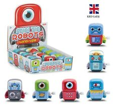 Kids Clockwork Wind Up MINI TIN ROBOT Birthday Party Favors Toy Party Gift UK