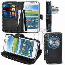 BLACK WALLET LEATHER CASE FOR SAMSUNG GALAXY S5 K ZOOM +FREE SCREEN GUARD,STYLUS