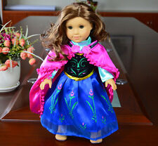 Anna fashion clothes dress for 18inch American girl doll party Hot sell