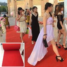 15ft 60cmx2mm Hollywood Party Red Carpet Scene Setter Fabric Floor Runner Decor
