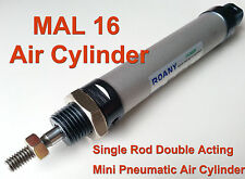 NEW MAL 16mm x 25mm Single Rod Double Acting Mini Pneumatic Air Cylinder 16x25