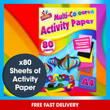 x80 Sheets Multi Coloured Activity Paper A4 - For Children and Adults