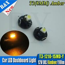 2x Amber Yellow T3 Neo Wedge Dash Climate Heater Control DC12V Light LED Lamp