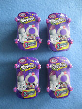 NEW LOT OF 4 SHOPKINS FASHION SPREE SEALED BLIND 2-BAG BASKETS FREE SHIPPING HTF