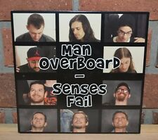 "SENSES FAIL MAN OVERBOARD - Ltd Split 7"" BLUE/BLACK SPLATTER VINYL + Download"