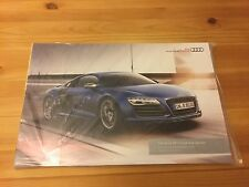 Audi R8 Coupe + Spyder UK Brochure, 2013 Pricing Specification Guide, Collectors