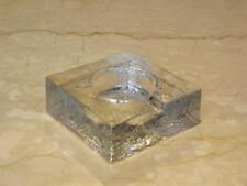 Vtg Blenko Glass Square Texture Cigar Ashtray Mid Century Modern