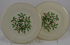 Lenox Marked Special Holly Berries Set of 2 Dinner Plates Presidential #3