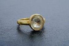 4.43CT Natural YELLOW SAPPHIRE 18K Gold Solitare Antique Ring