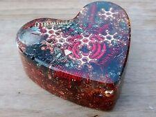Love gift Red Stars Heart Orgonite