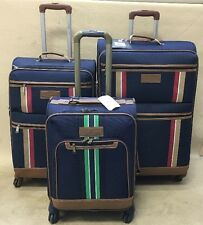 """Tommy Hilfiger Spinner Luggage Navy Set 20"""" & 24"""" & 28"""" Expandable Suitcases"""