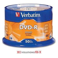 50 VERBATIM DVD -R 16X 4.7GB ENVIO URGENTE TARRINA DVD-R ORIGINALES NO 100 200+