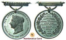 [NC] MEDAGLIA INGHILTERRA PREMIO PRESENZE SCUOLA 1888 (nc1948)