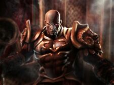 POSTER GOD OF WAR KRATOS 2 PLAYSTATION 3 PLASTIFICATO GRANDE ZEUS PS3 FIGURE 6