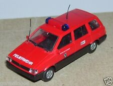 MICRO RIETZE HO 1/87 MITSUBISHI SPACE WAGON FEUERWEHR FIRE POMPIERS + 2 ANTENNES