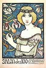 A4 Photo Berthon Paul 1872 1909 Salon des Cents c1894 Print Poster