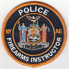 NEW YORK AG ATTORNEY GENERAL FIREARMS INSTRUCTOR POLICE PATCH NY