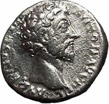 MARCUS AURELIUS 156AD Silver Ancient Roman Coin Felicitas (Good luck) i55696