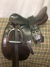 County Competitor Brown Leather Dressage Saddle, 16.5, MW, FREE FITTINGS