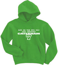 Naughtees Clothing Hoodie On The 8th Day God Created Caterham Poly Cotton Blend
