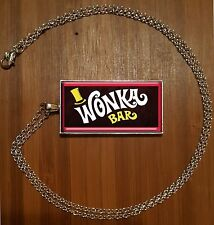 WONKA BAR necklace WILLY WONKA and the CHOCOLATE FACTORY Pendant RETRO VINTAGE